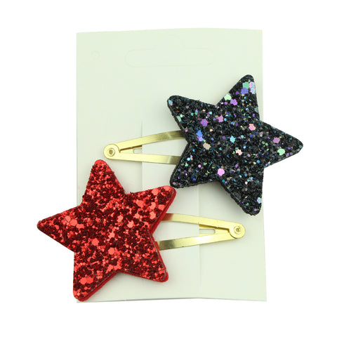 star hair clip accessories big glitter star rose gold snap hair clip 5803