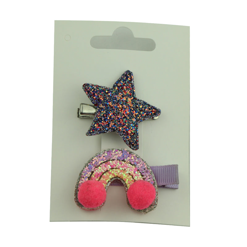suede faux leather star hairgrip alligator hair clip 5cm toddler girl hair clip rainbow leather covered hair clip 5806 - SOHOBUCKS CO.,LIMITED