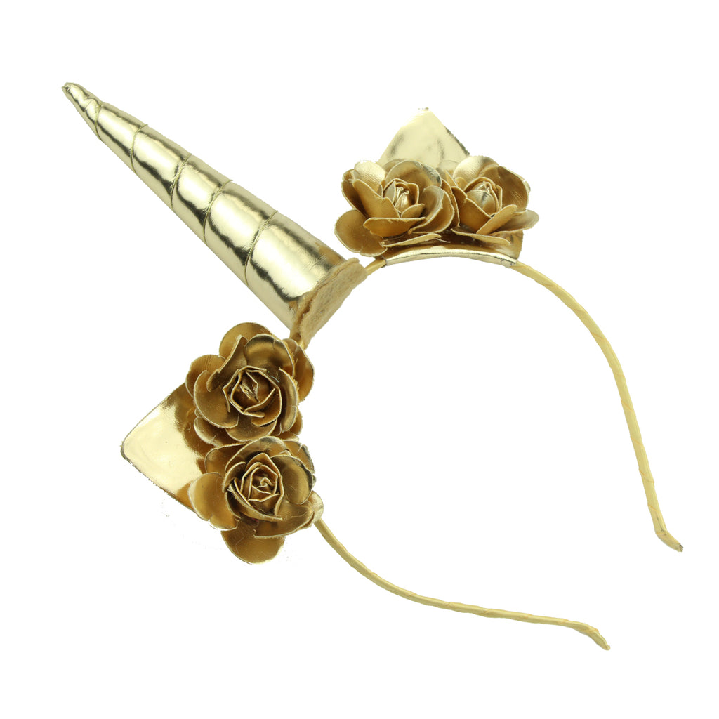 suede leather shiny unicorn horn dress up  hair accessory cat ears party girl headband5482