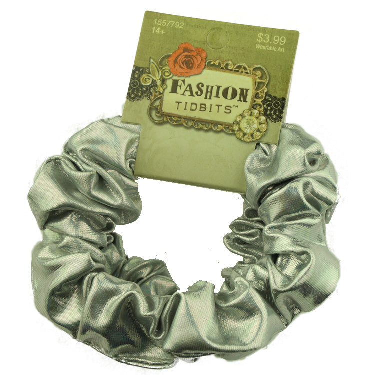 suede pu artificial leather custom hair scrunchies fabric ponytail holder silver elastic scrunchy hair band wholesale 2542