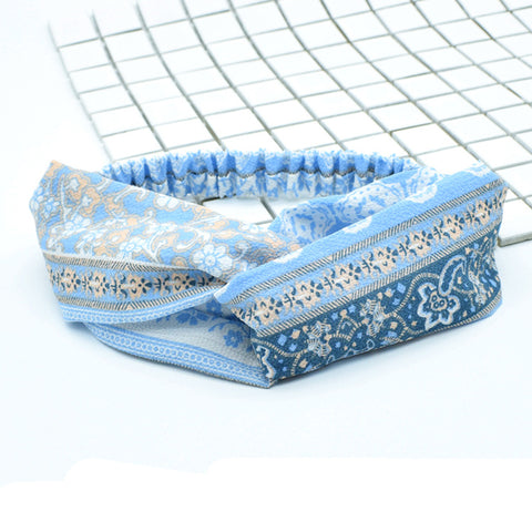 trendy head scarves adult headbands hair accessories for women short hair,cotton twist decorative headbands88045