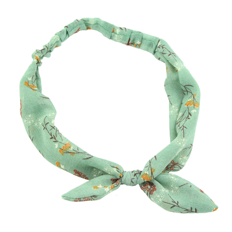 turban big bow headband  girl cotton bow headband floral big bow headband 6744 - SOHOBUCKS CO.,LIMITED