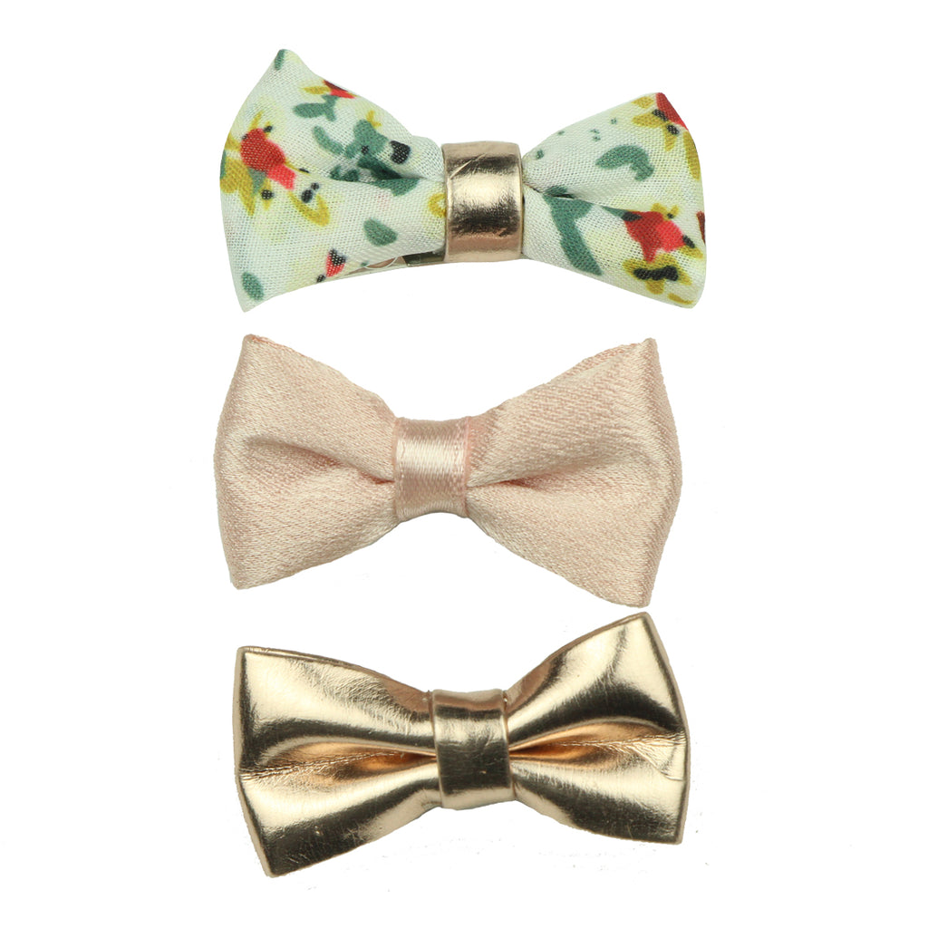 turban bow hair clip pink vintage hair bow gold suede faux leather bow hair grip set7635
