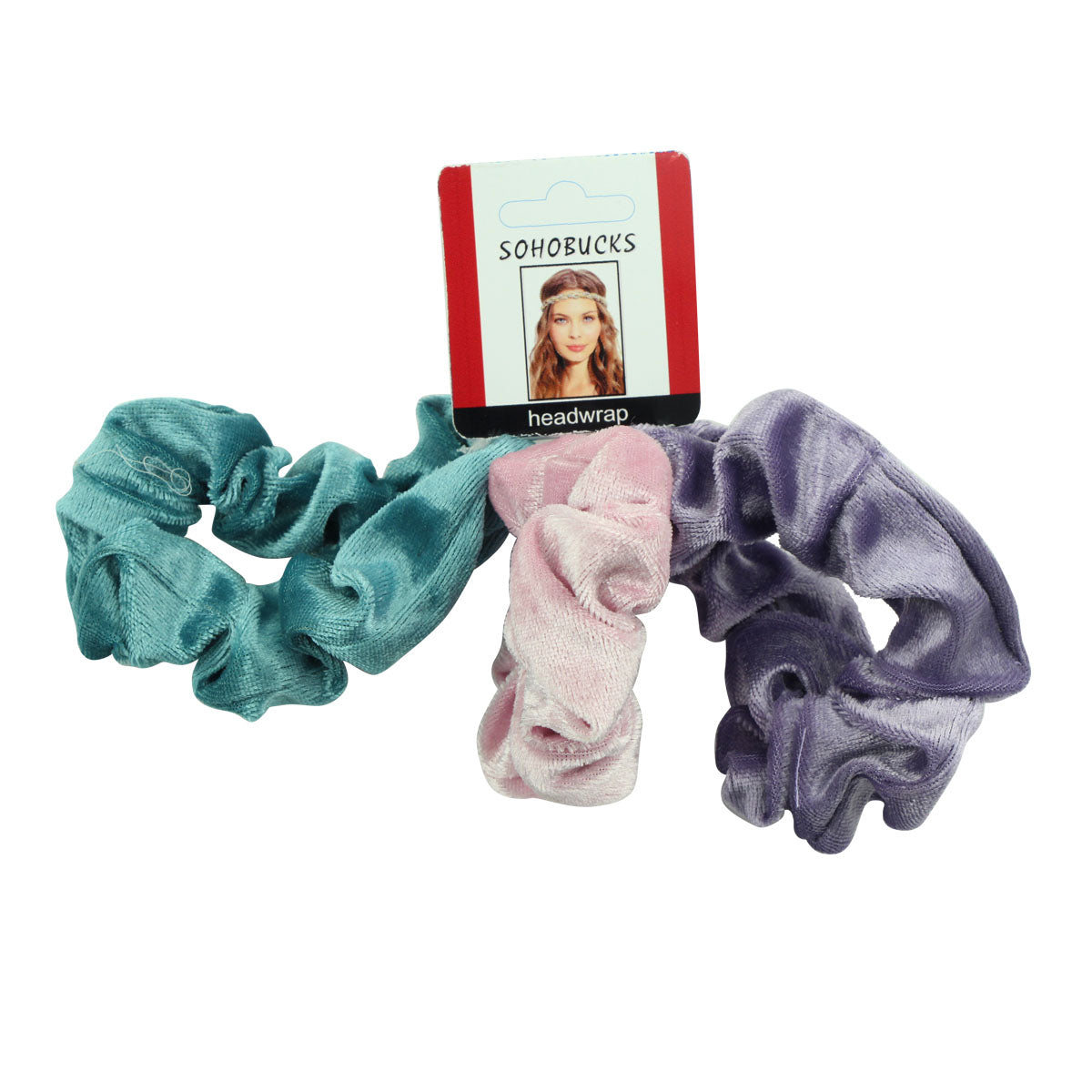 velvet hair scrunchies 3pack, scrunchies hair tie, plush scrunchies5560 - SOHOBUCKS CO.,LIMITED
