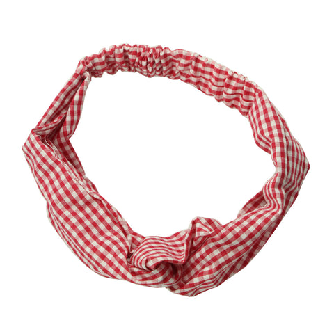 white and red gingham custom print twist hair headband fashion teenage girl criss cross headband hairband 6973 - SOHOBUCKS CO.,LIMITED