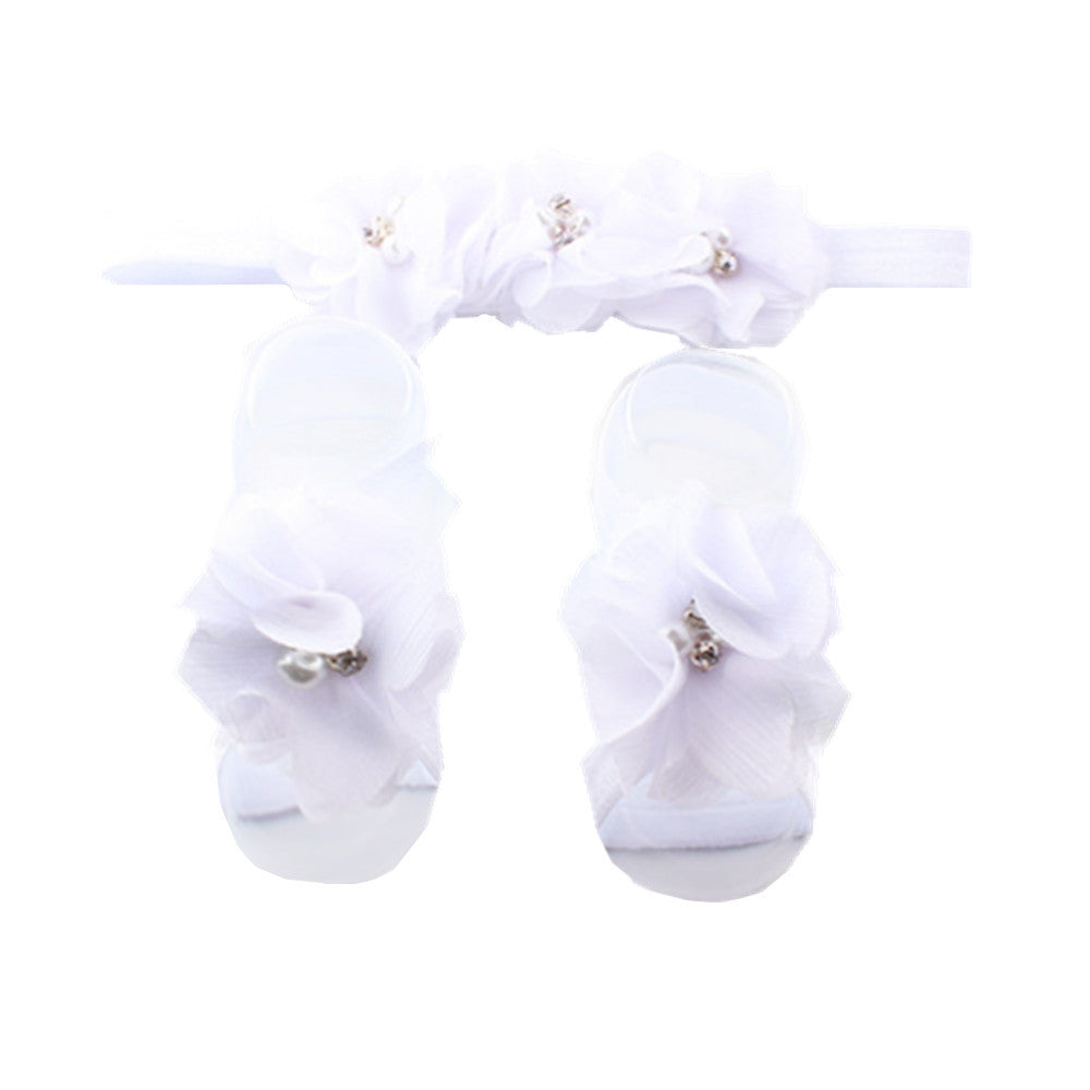 fray chiffon flower rhinestone stone pears centerpiece no crease hair tie elastic headband assorted color 7991 - SOHOBUCKS CO.,LIMITED