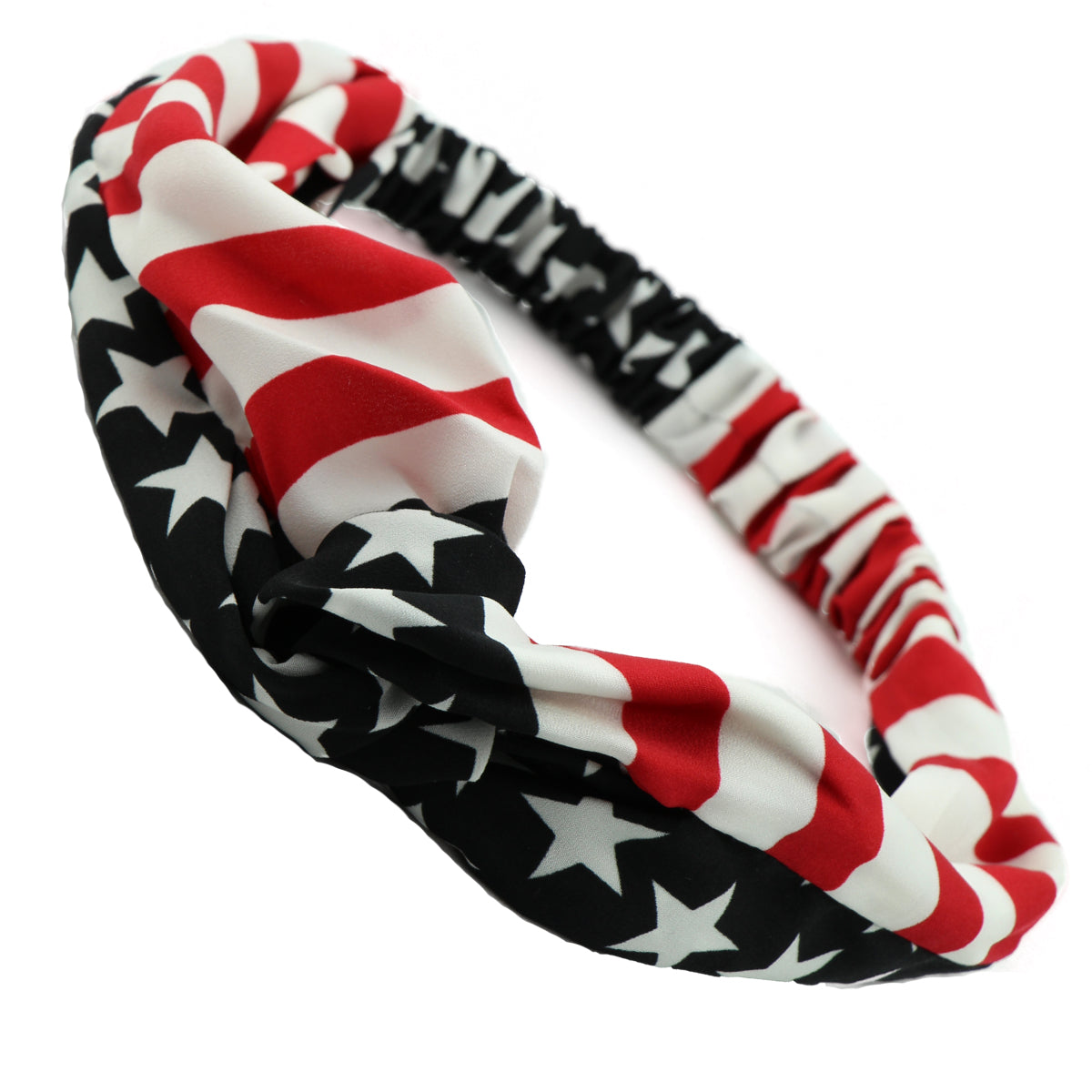 wholesale American flag hair accessories  American Flag Cross Headband Twist head wrap HairBand for teenage girls from factory0723 - SOHOBUCKS CO.,LIMITED