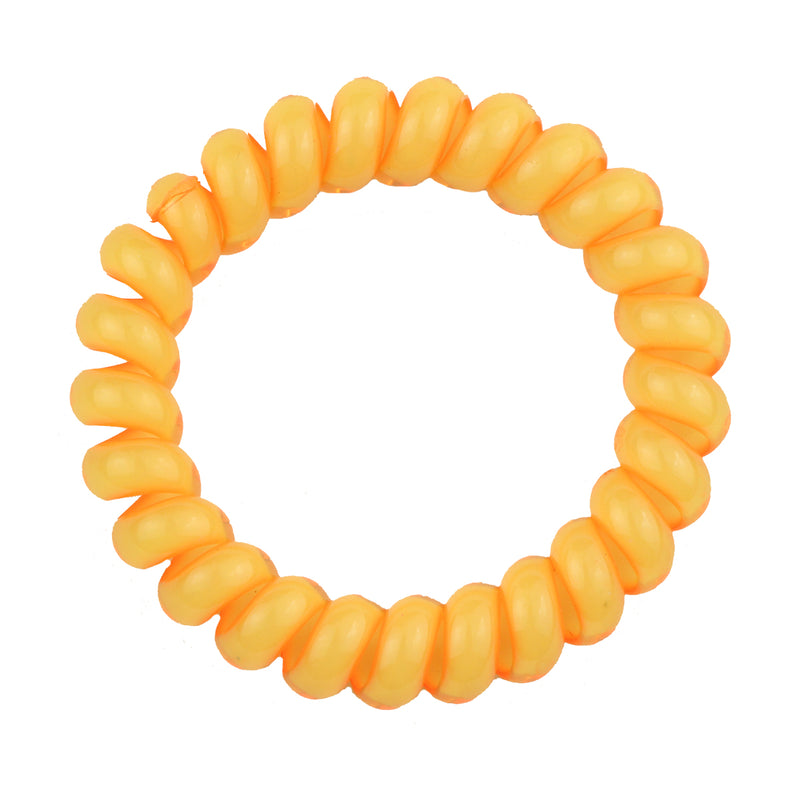 wholesale blue phone wire cord plastic spirals hair bobbles orange bungee cord hair  ties elastics hairband with bow 6422