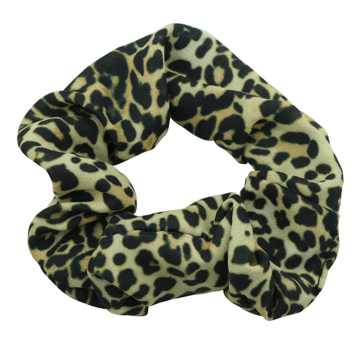 wholesale chiffon animal print leopard adult women hair scrunchies hair bands 5618 - SOHOBUCKS CO.,LIMITED