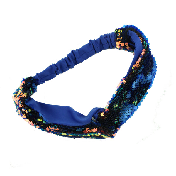 wholesale vintage revisable mermaid sequin cross elastic headband fabric twist hairband for women at factory direct price 5848 - SOHOBUCKS CO.,LIMITED