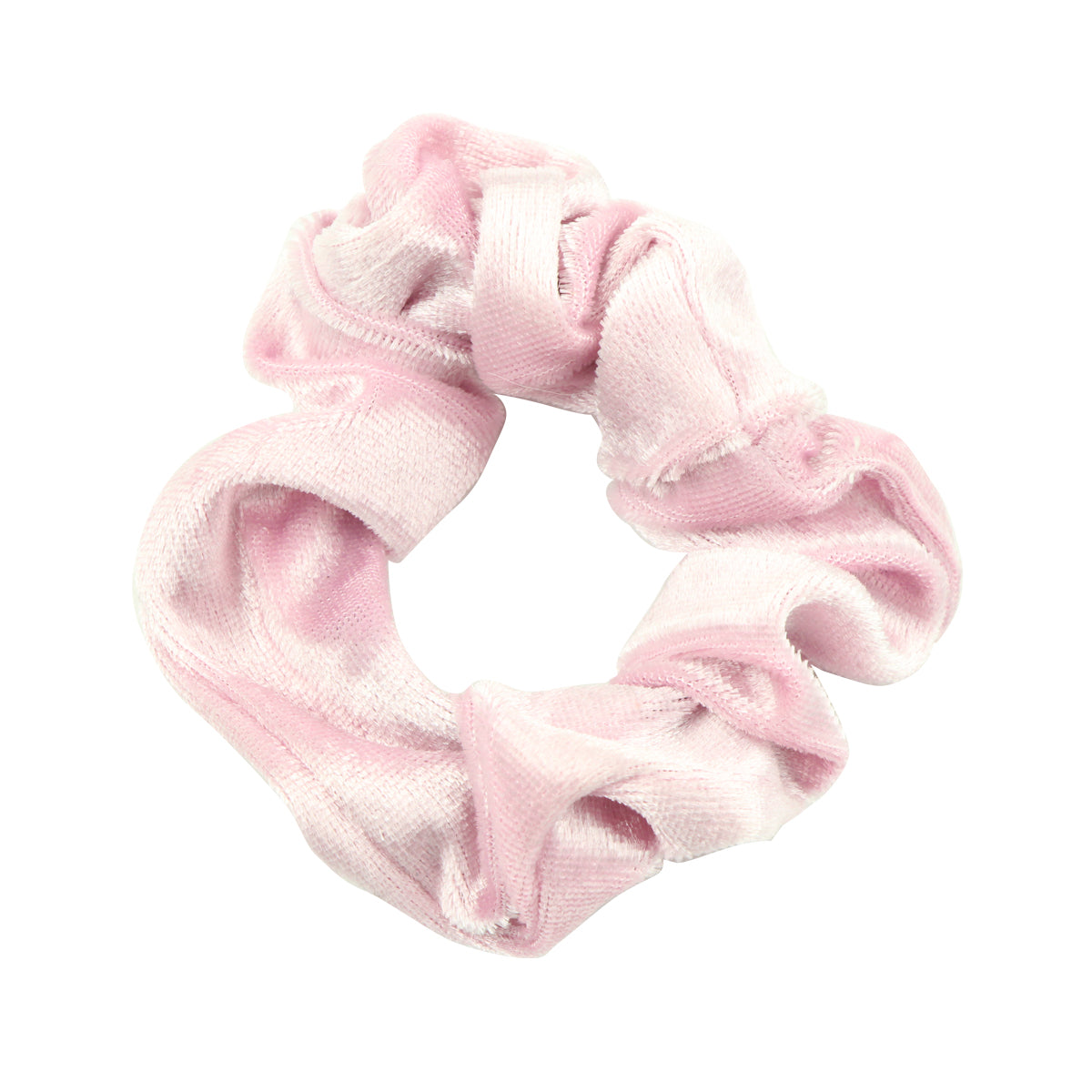 wholesale custom  pink velvet scrunchy  elastic hair band best cloth ponytail holders private label  for fine hair 5494 - SOHOBUCKS CO.,LIMITED