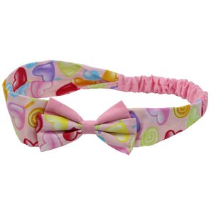 wholesale custom printed dye sublimation bandana 100% cotton bow headband head wrap teenage fashion bandana hair headwear  0678 - SOHOBUCKS CO.,LIMITED