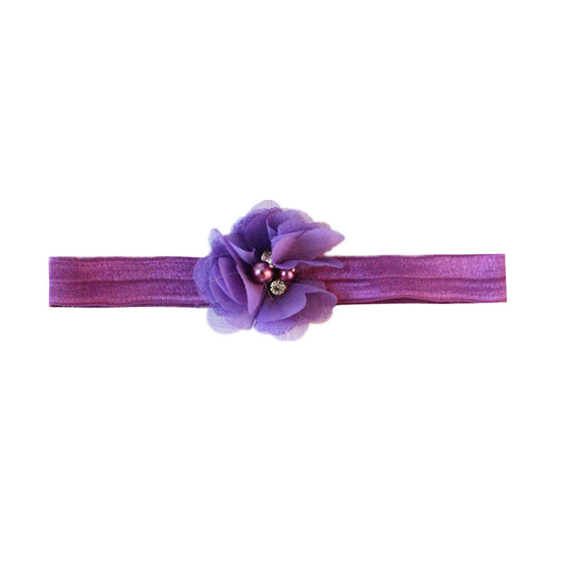 die cut fray flower nylon rope 3/8 inch toddler girl hair headband mixed color - SOHOBUCKS CO.,LIMITED