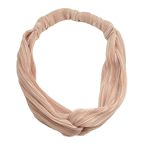 wholesale custom vintage fashion Crinkled cross hair headband twist head wrap adult women private label hair accessory 6996 - SOHOBUCKS CO.,LIMITED