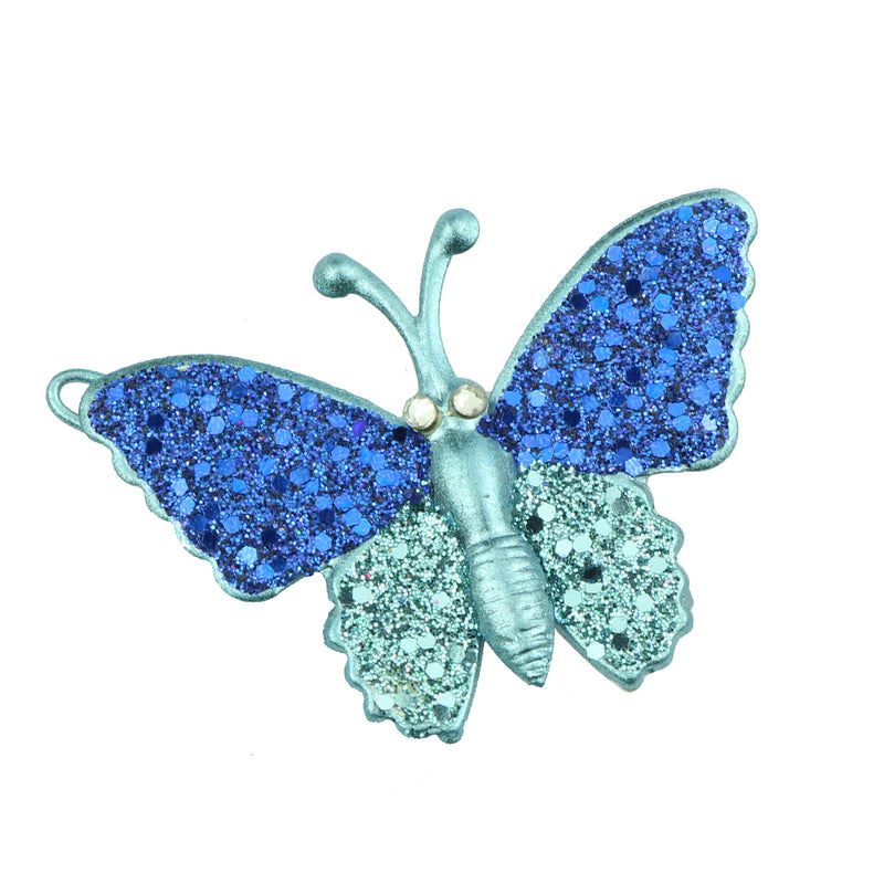 wholesale eco friendly lead free blue metal glitter butterfly hair clip girl hair barrette hair-grip at factory price6486 - SOHOBUCKS CO.,LIMITED