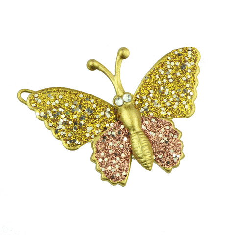 wholesale eco friendly lead free gold metal glitter butterfly hair clip girl hair barrette hair-grip at factory price6483 - SOHOBUCKS CO.,LIMITED