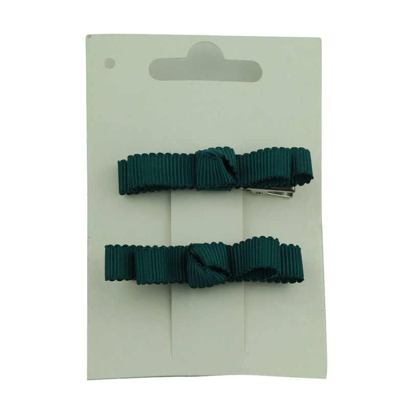 wholesale fashion blue grosgrain ribbon bow  lined hair clip at factory price from walmart audit supplier 5655