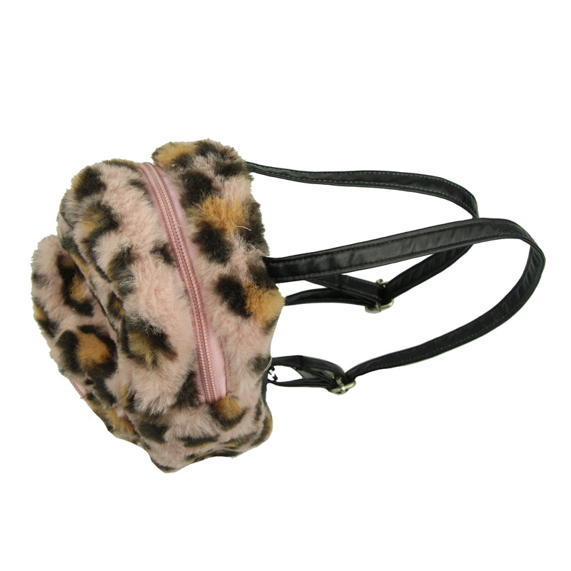wholesale fashion coin purse custom animal print leopard backpack coin purse