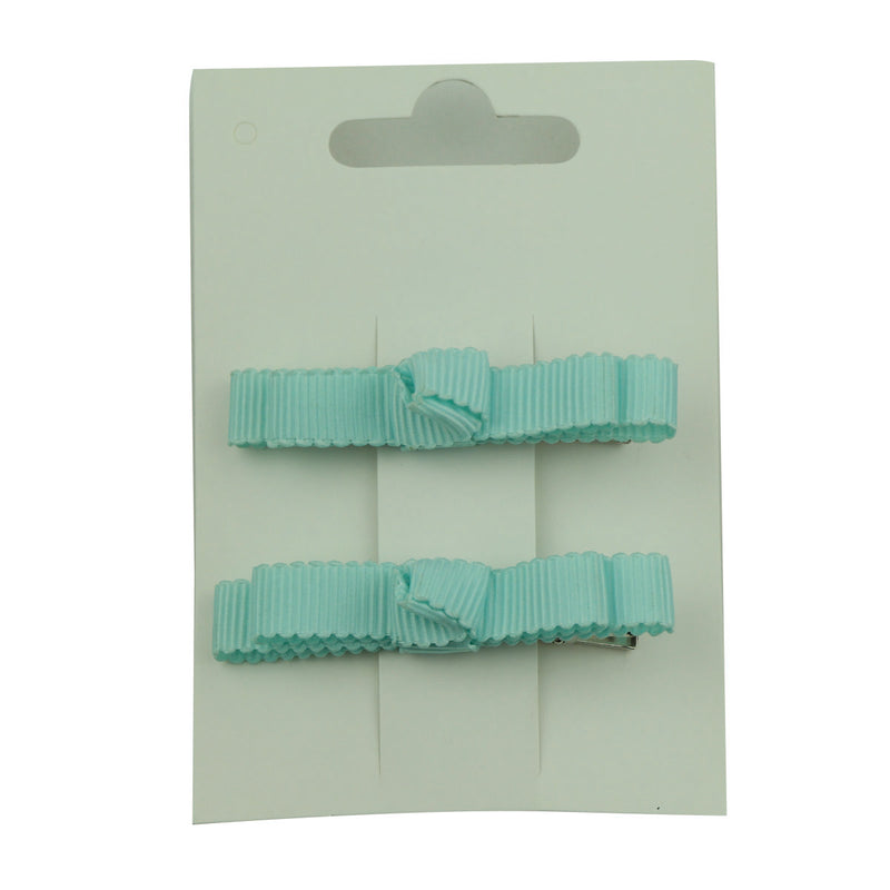 wholesale fashion hot pink blue grosgrain ribbon bow  lined hair clip at factory price from walmart audit supplier5653