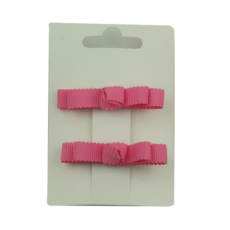 wholesale fashion hot pink grosgrain ribbon bow  lined hair clip at factory price from walmart audit supplier5652