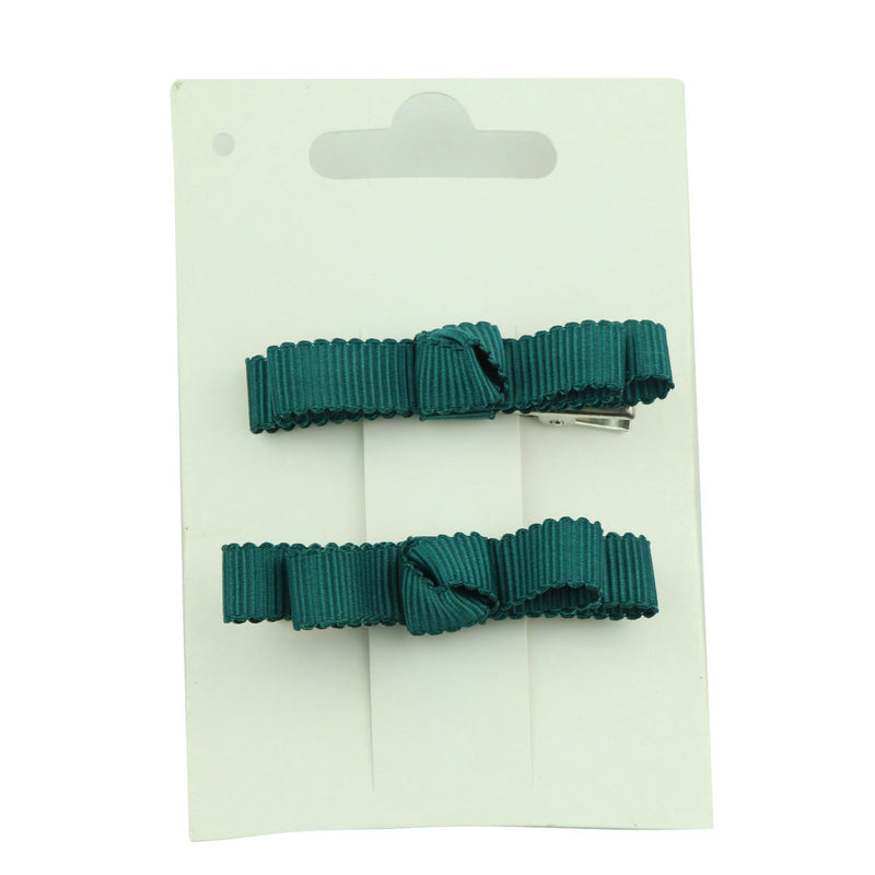 wholesale fashion light bule grosgrain ribbon bow  lined hair clip at factory price from walmart audit supplier5656