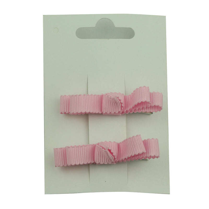 wholesale fashion light pink grosgrain ribbon bow  lined hair clip at factory price from walmart audit supplier5657