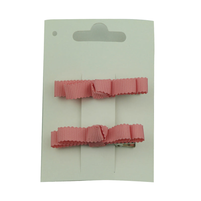 wholesale fashion  pink grosgrain ribbon bow  lined hair clip at factory price from walmart audit supplier5654