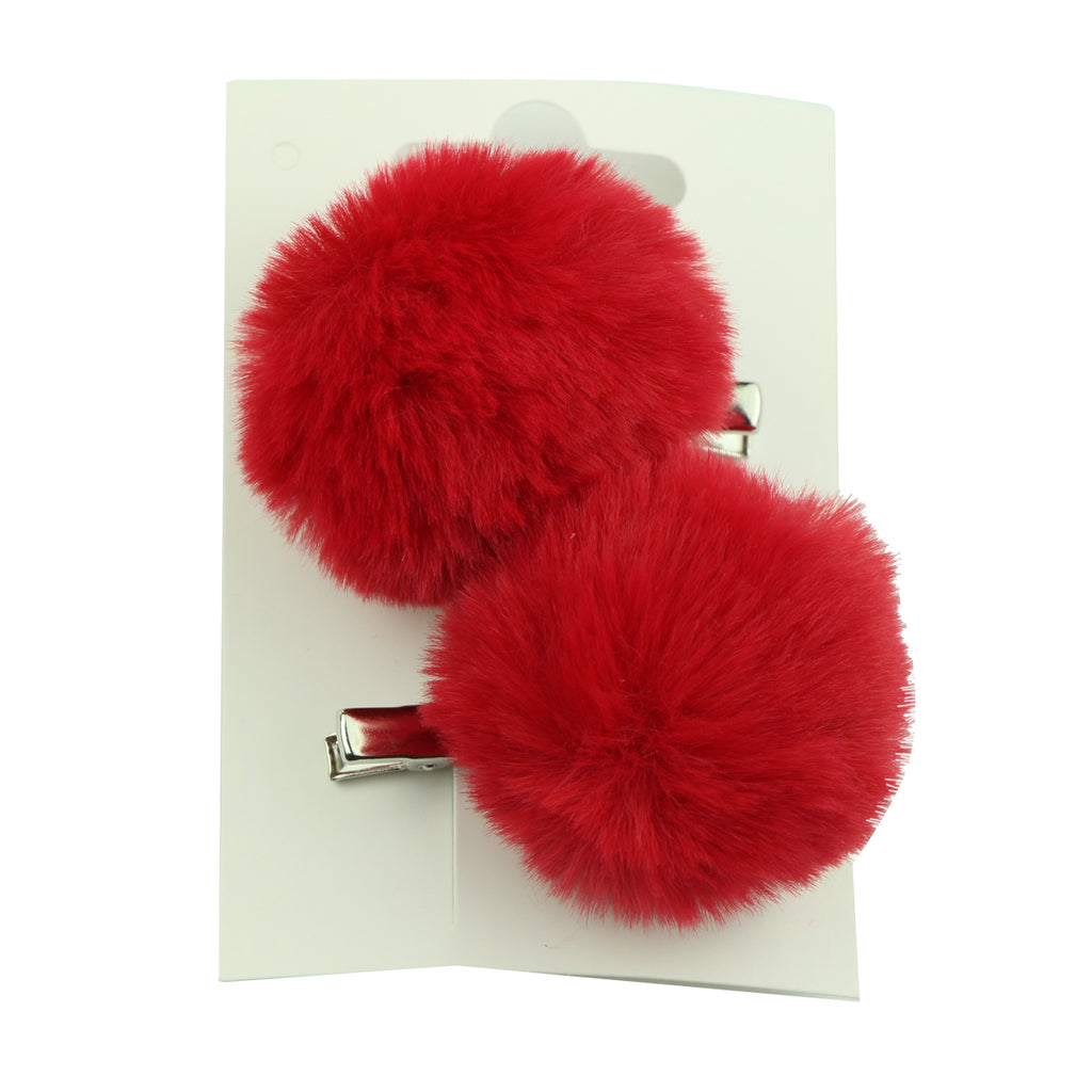 wholesale faux rabbit fur ball pom poms hair clip artificial animal rex  fur ball headwear hair ornaments at factory price 6138 - SOHOBUCKS CO.,LIMITED