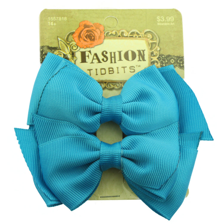 wholesale green grosgrain ribbon hair bow plain hair alligator clip wholesale at factory price from SGS audit facility sohobucks