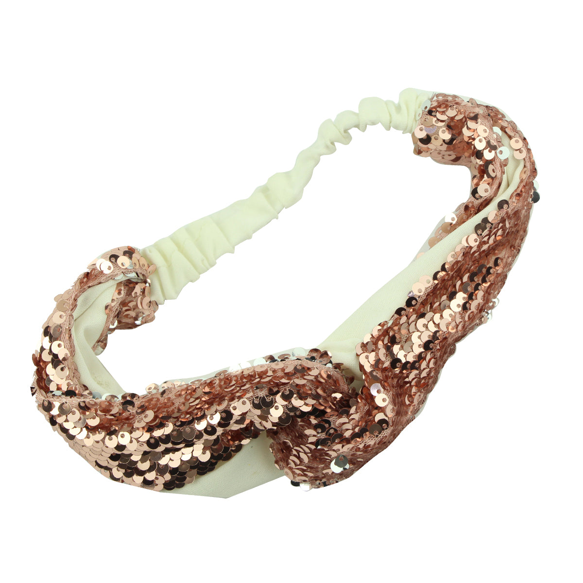 wholesale high quality fashion mermaid sequin sewing cross headband girls twist knot head wrap teenage from ASOS audit supplier5847 - SOHOBUCKS CO.,LIMITED