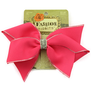 wholesale pink wide grosgrain ribbon cheer bow alligator hair clip from Disney audit supplier - SOHOBUCKS CO.,LIMITED