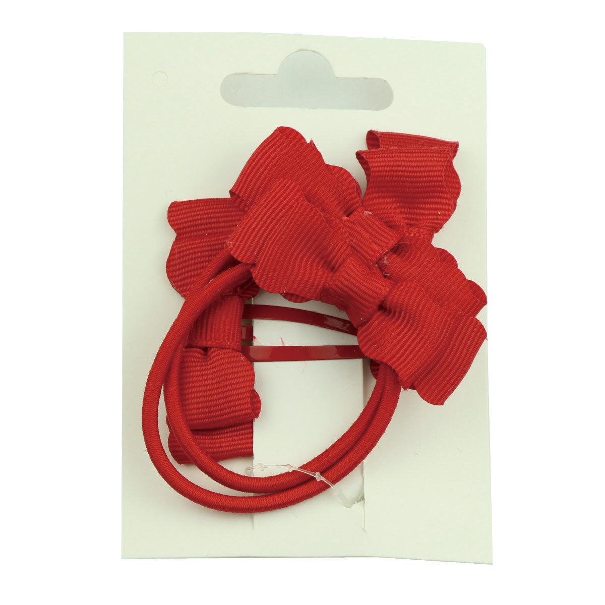wholesale red grosgrain ribbon bow 5cm snap coated hair clip ribbon bow hair tie set girl hair accessories kits 5770 - SOHOBUCKS CO.,LIMITED