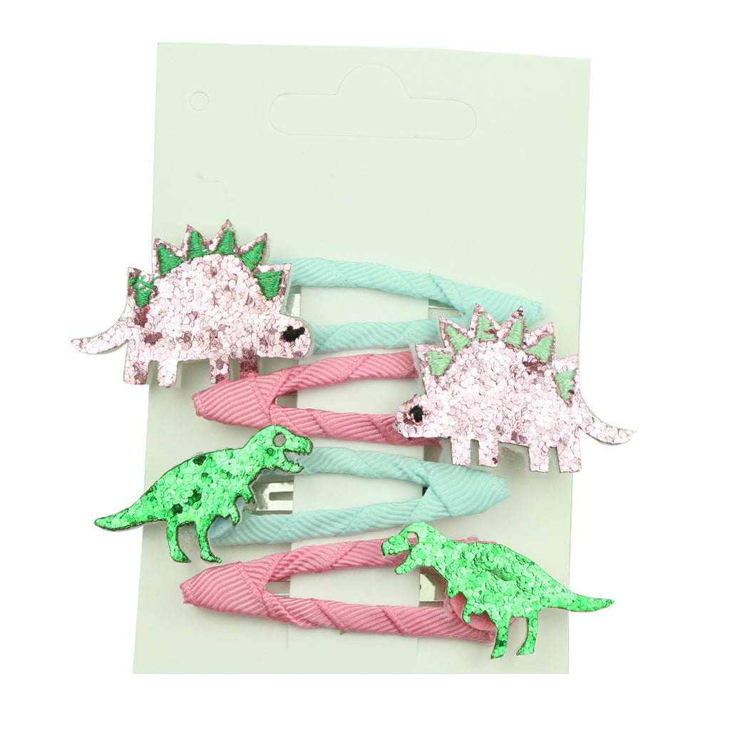 wholesale suede faux leather animal dinosaur grosgrain ribbon covered 5cm snap hair accessories girl hair clip  6420 - SOHOBUCKS CO.,LIMITED
