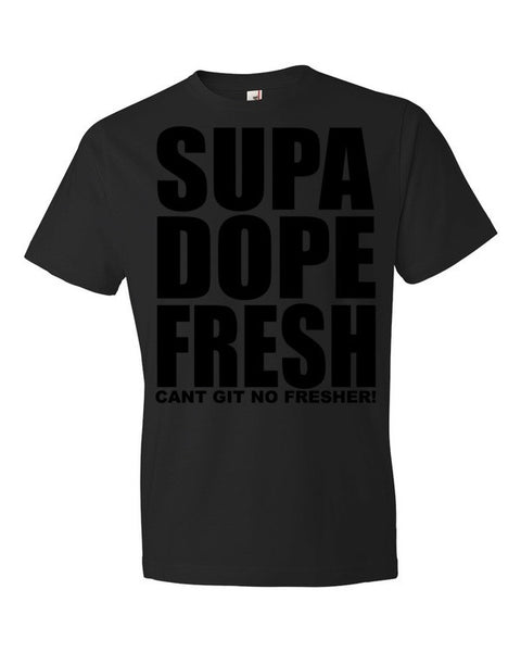 SupaDopeFresh Black Original Short sleeve t-shirt