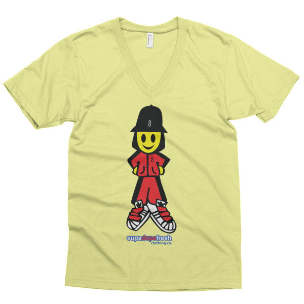 SupaDopeFresh Smiley short sleeve v-neck