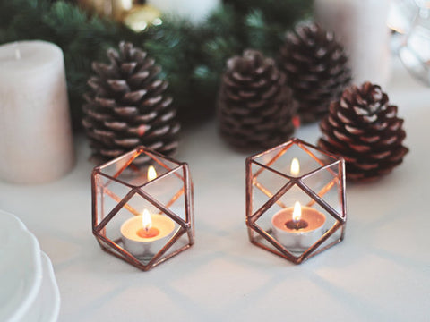 geometric shaped candle holder