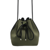 Drawstring Shoulder Bag / Khaki Green