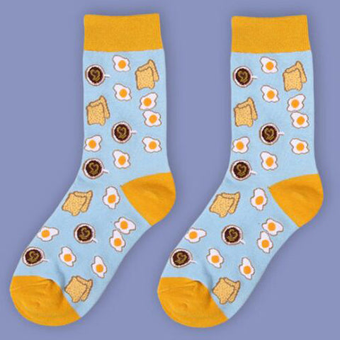 SlogPith EGG&BREAD SOCKS
