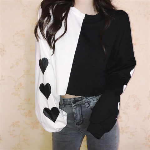 FASHION LOVE PRINT SWEATERS