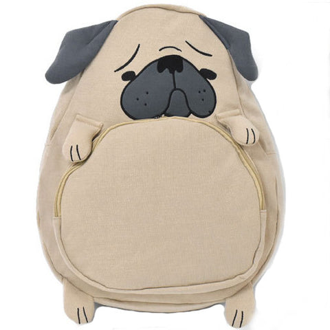 IUYZW PUG DOG BACKPACK