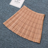 SlogPith PLAID PLEATED SKIRTS