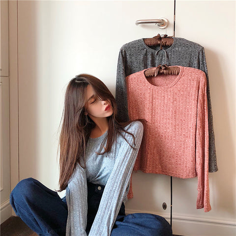 LOOSE ROUND NECK TOPS