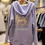 IUYZW UNICORN HOODED SWEATERS