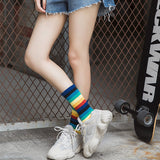 IUYZW RAINBOW COTTON SOCKS