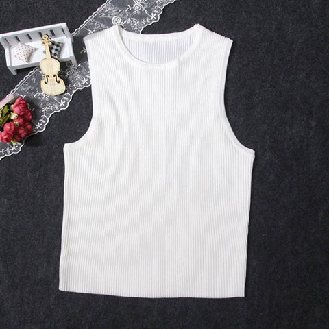 IUYZW SLIM SOLID TANK TOPS