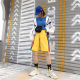 SlogPith HARAJUKU STYLE LETTER EMBROIDERY HIP HOP SHORTS