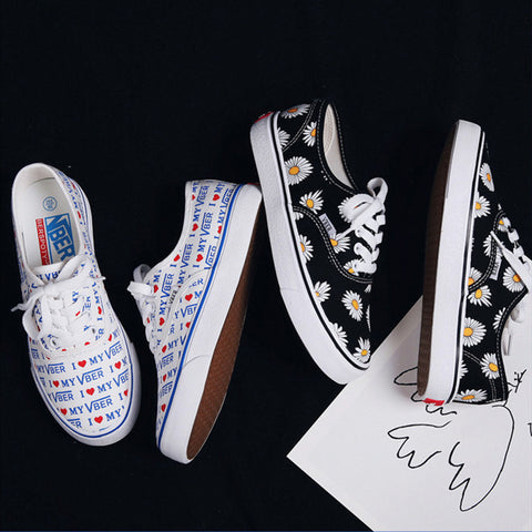 CUTE PRINTED CANVAS SHOES
