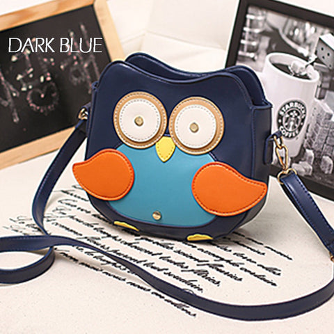 3 COLORS OWL SHOULDER BAGS