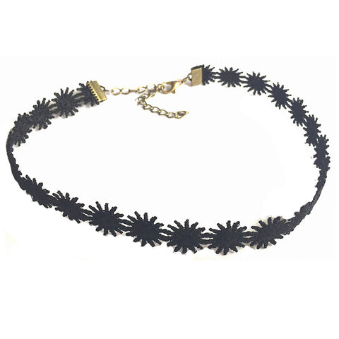SlogPith BLACK DAISY CHOKERS