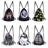HARAJUKU STYLE PRINTED CANVAS BACKPACK BAGS 7